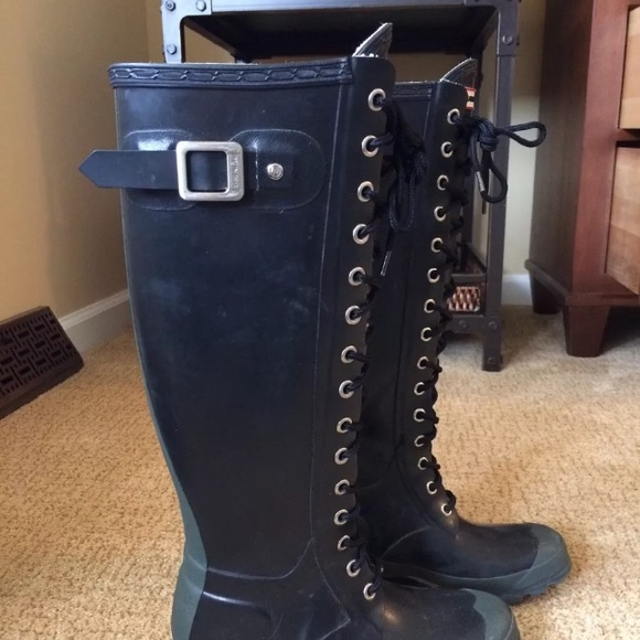 Rain Boots Lace Up